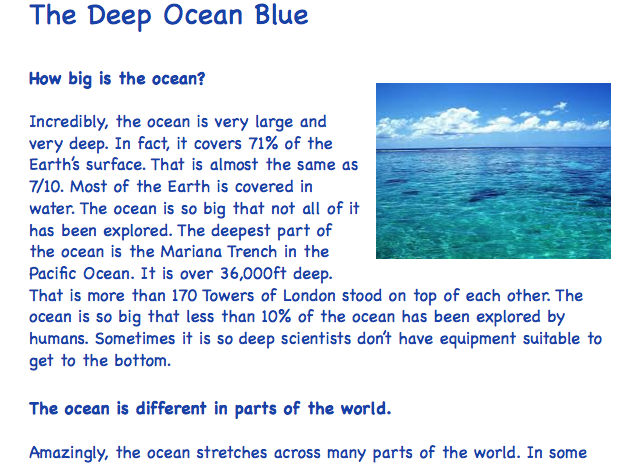 Deep Ocean Comprehension