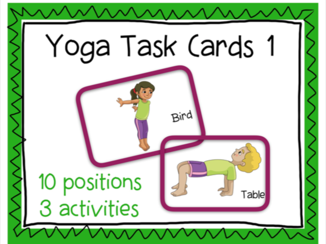 Printable Yoga Cards Set 1