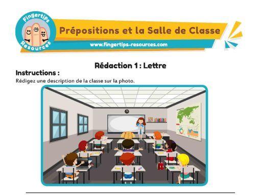 La Salle de Classe: 2 x Writing Activities