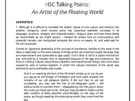 Talking Points - HSC Advanced Mod B: An Artist of the Floating World