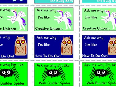 Growth Mindset character stickers