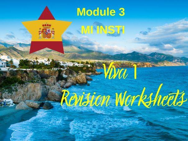 SPANISH Viva 1 Module 3 Worksheets