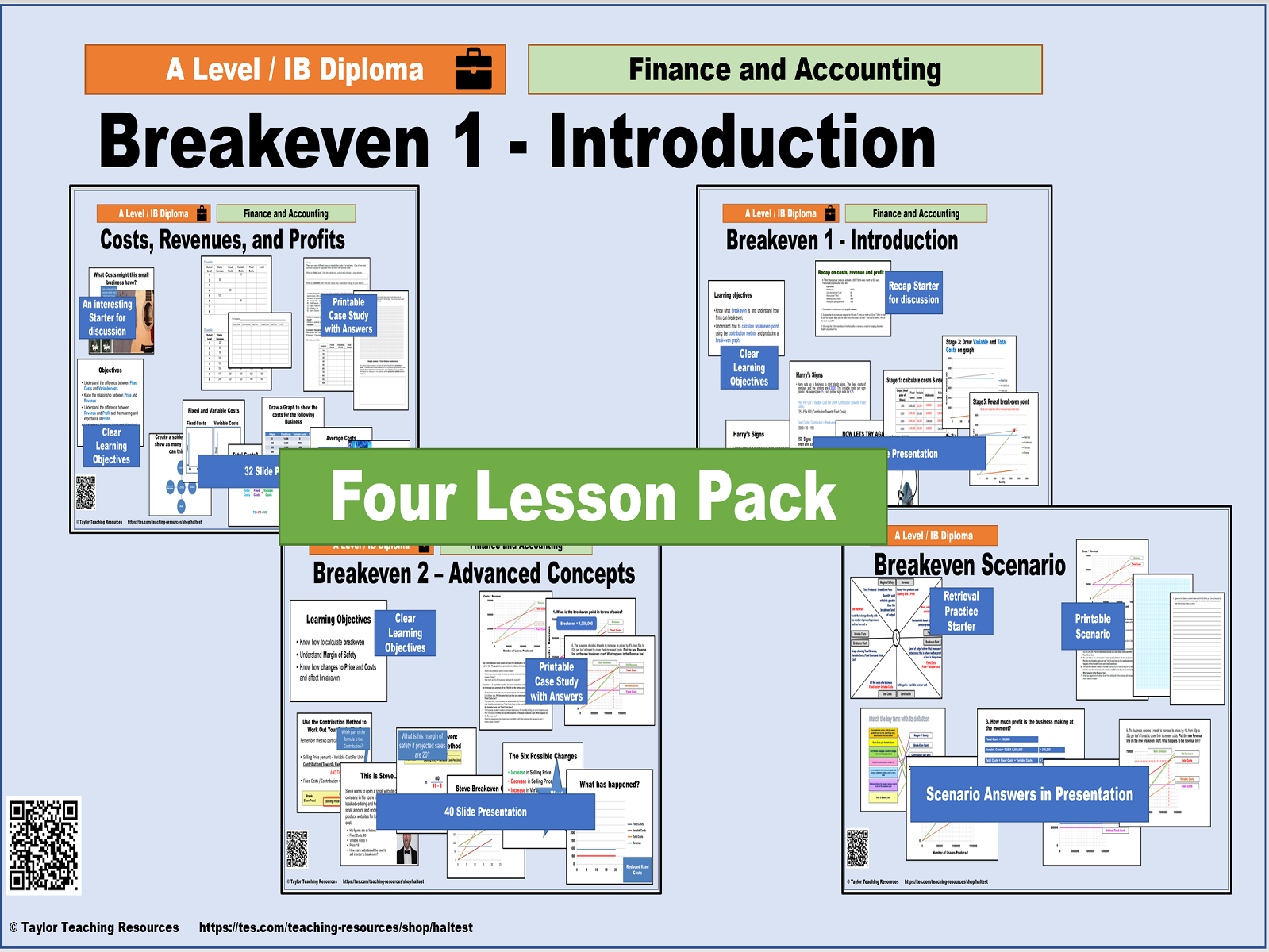 Breakeven Super Bundle - A Level / IB - 4 Lessons Plus Bonus Poster