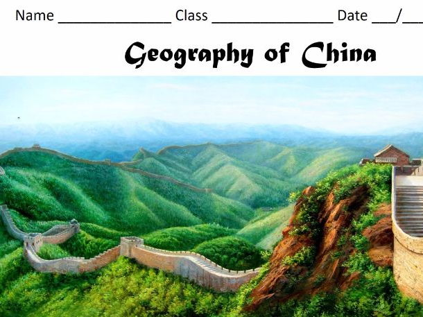 Geography of China booklet