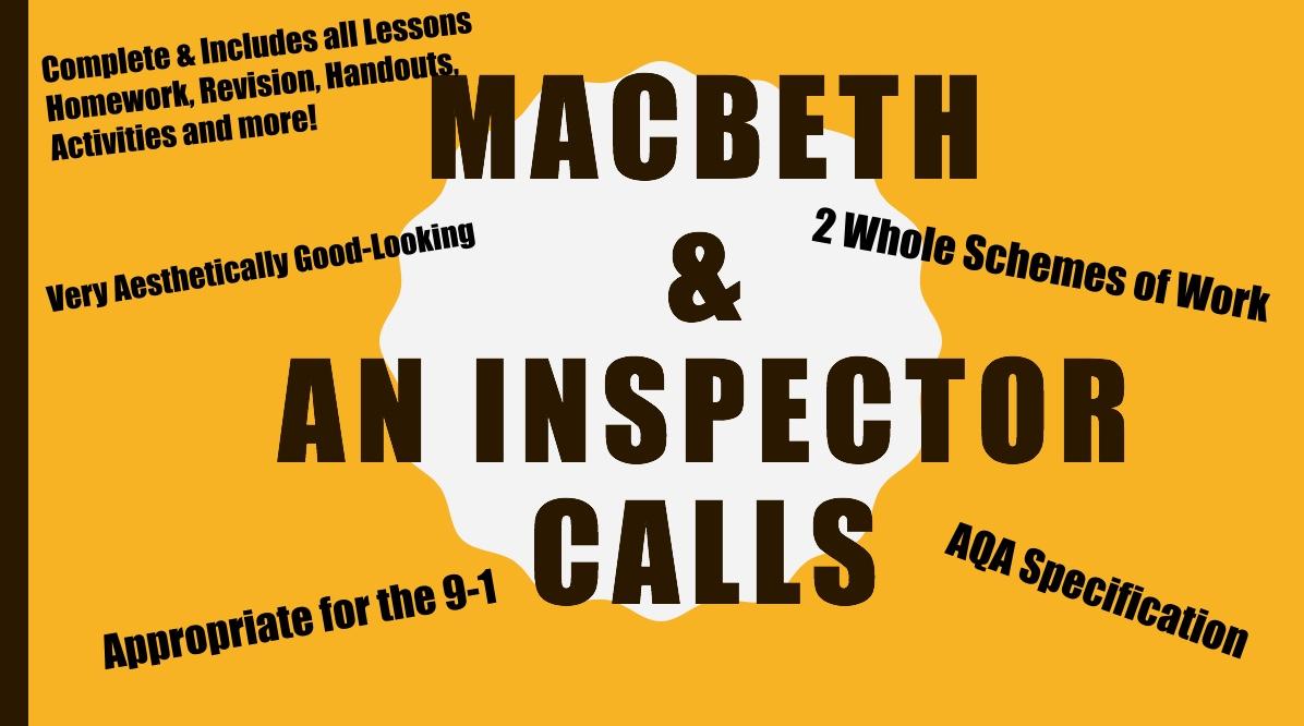An Inspector Calls SoW & Macbeth SoW (AQA 9-1)