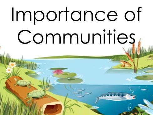 Importance of Communities
