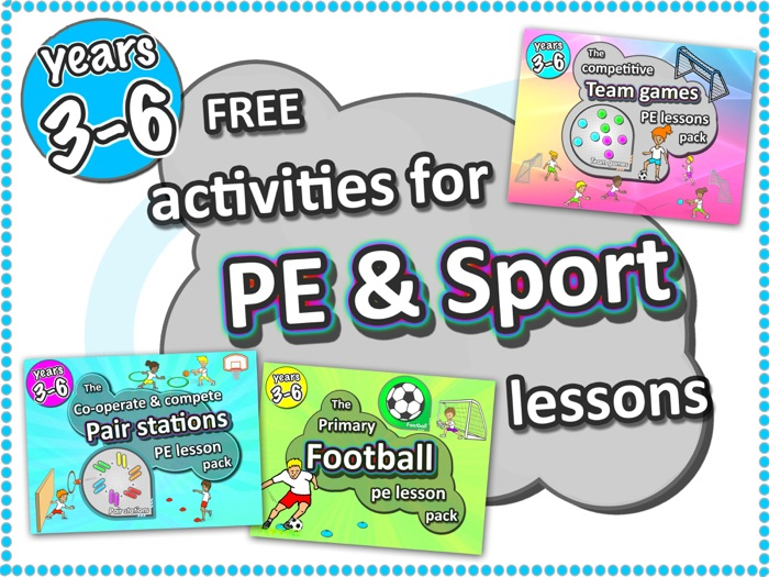 Free PE Sport Lesson ideas › Pair Stations, Football lesson & Team Game years 3-6