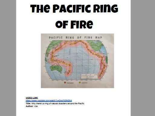 Pacific Ring of Fire Join the Dots worksheet