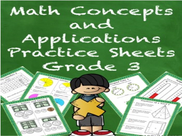 Special Education Math Concepts and Applications Practice Sheets Grade 3
