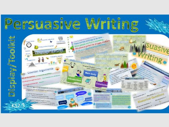 Persuasive Writing Display