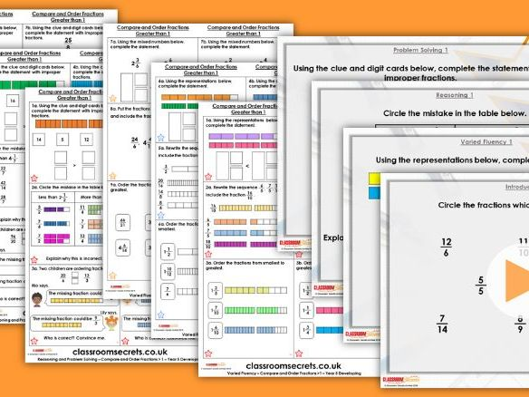Year 5 Compare and Order More Than 1 Spring Block 2 Step 6 Maths Lesson Pack