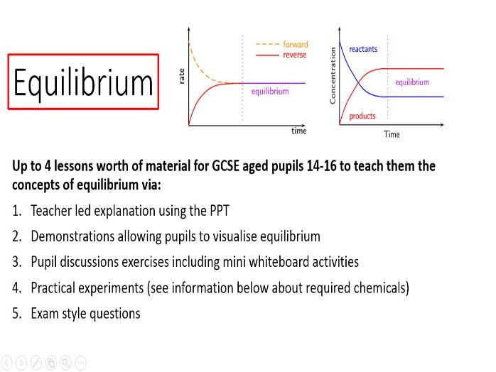 Equilibrium  - pupils aged 14-16