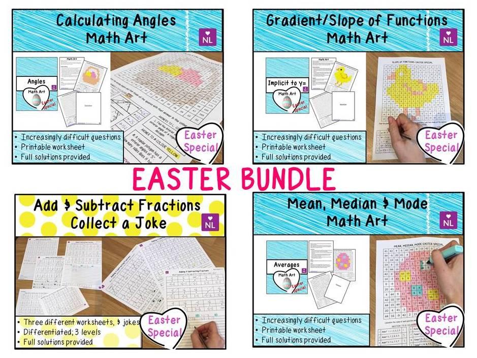 BUNDLE Easter Math Activities
