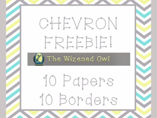 Chevron Papers and Borders - FREEBIE