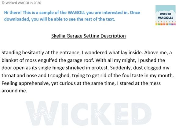Skellig Garage Setting Description