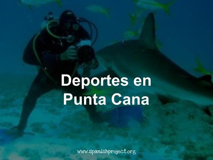 Reading Comprehension - Paper 2 - Spanish Ab Initio - Deportes en Punta Cana