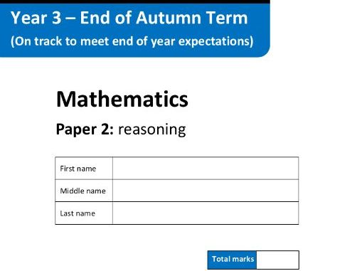 Mathematics Assessment Tests - Key Stage 2 - Autumn Term