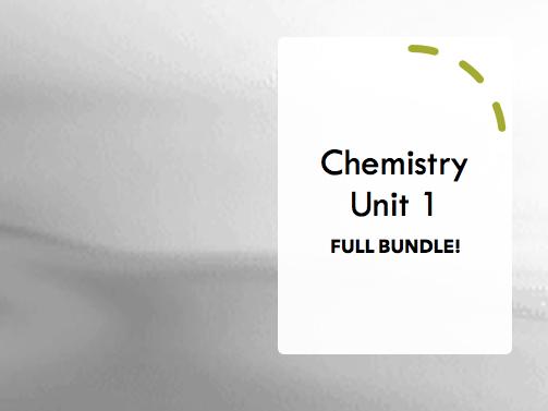 GCSE AQA Chemistry Revision Video Unit 1 - BUNDLE!