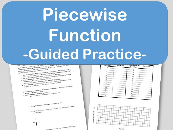 Piecewise Functions Guided Notes or Lesson Practice