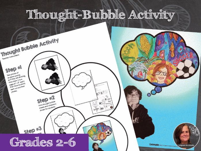 Back to School Thought Bubble No Prep Art Activity - Get to know you Activity