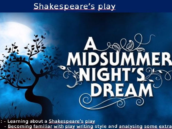 A Midsummer Night's Dream Wordsearch