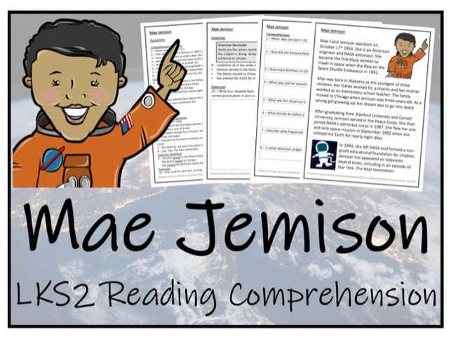 LKS2 - Mae Jemison Reading Comprehension Activity