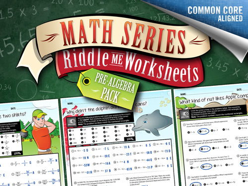 Pre-algebra Worksheets: Riddle-Me-Worksheets – Math Riddles