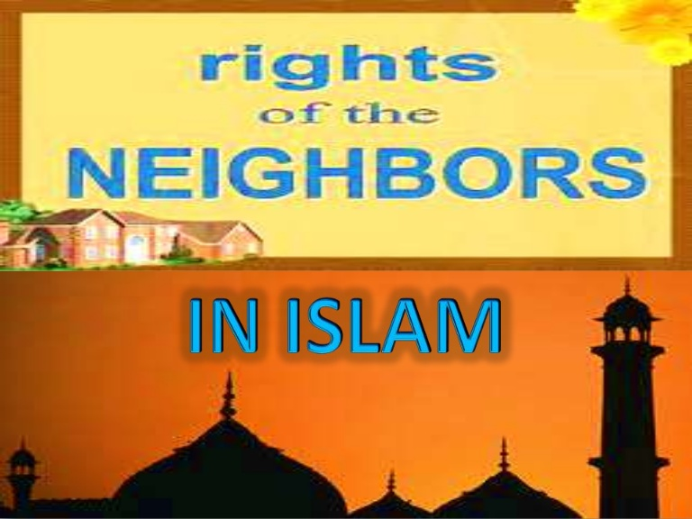 Visiting and Neighbours in Islam