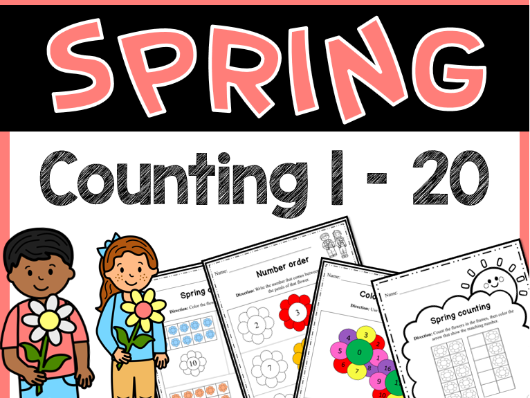 Spring Activities - Counting 1-20