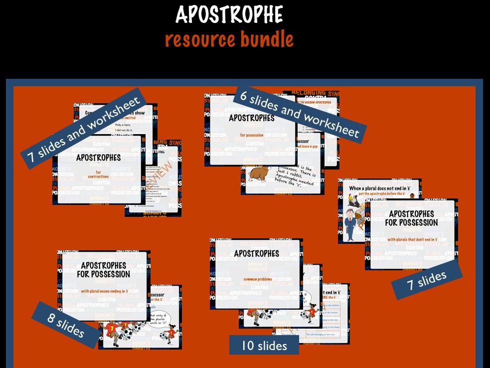 Apostrophe worksheet ks3 tes