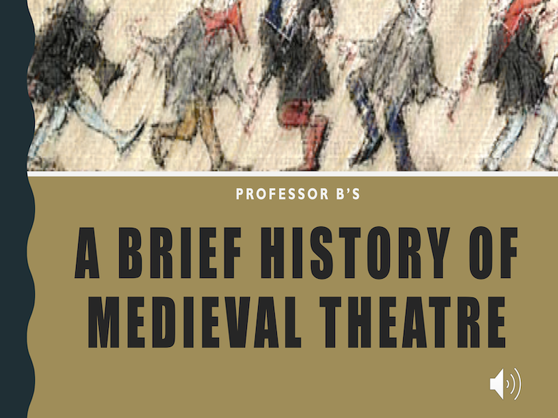 A Brief History of Medieval Theatre Power Point/Activity Sheets Bundle