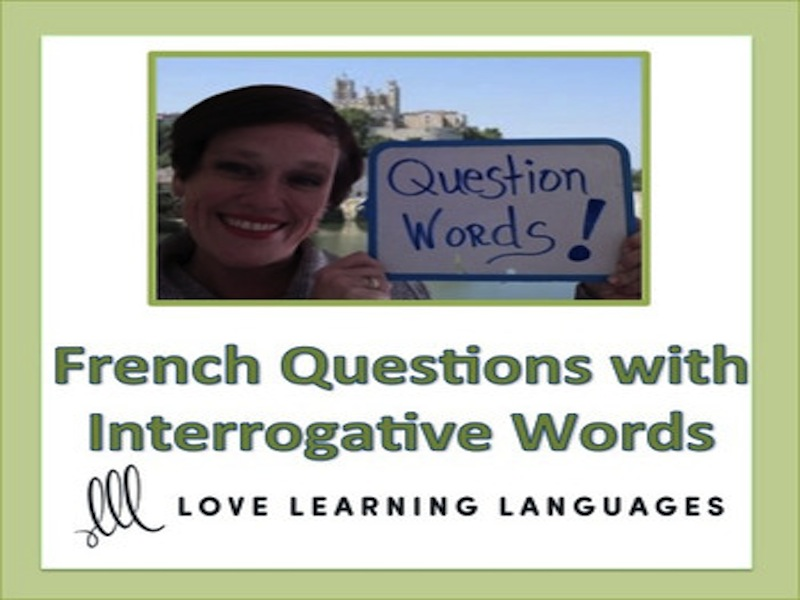 GCSE FRENCH: Forming French Questions with Interrogative Words Lesson and Exercises