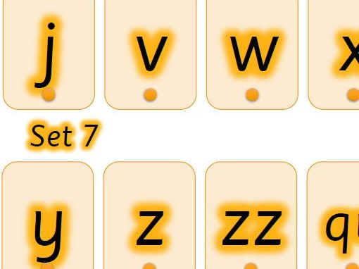 Shaded phonics, Phase 2  - Set 6 and 7 (Dyslexia)