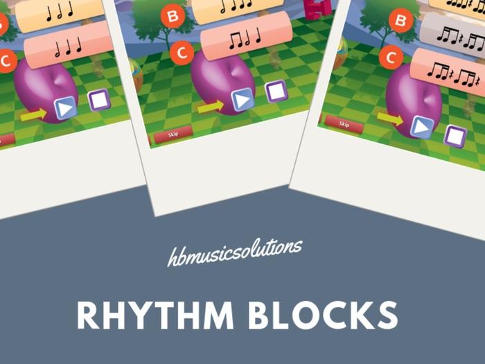 Rhythm Blocks Music Interactive Activity