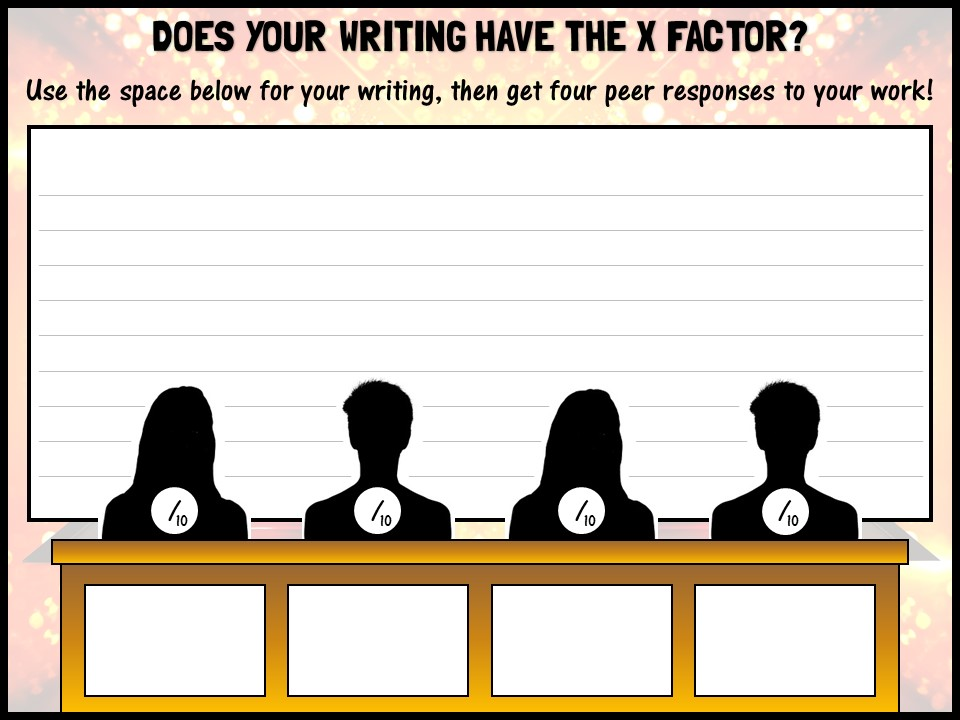 Does your writing have the X Factor?