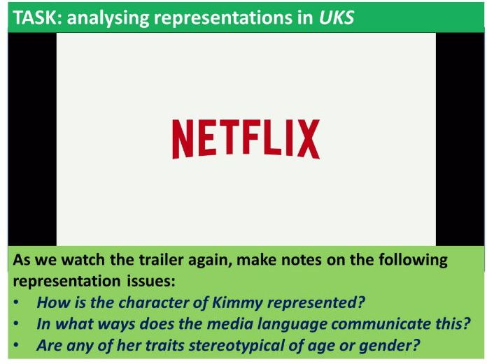 9-1 GCSE Media Studies Key Concepts lesson 7: Representation and Stereotypes