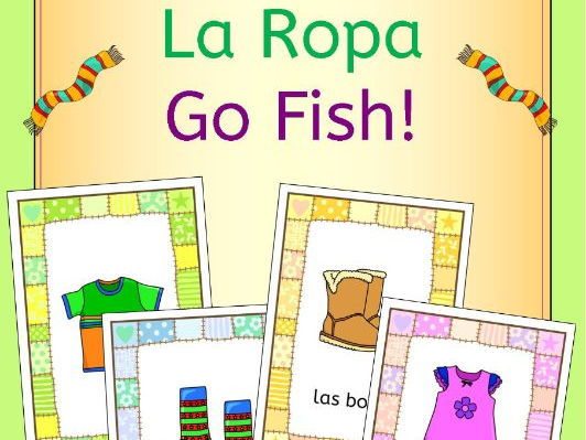 Spanish clothing - la ropa - Go Fish! game