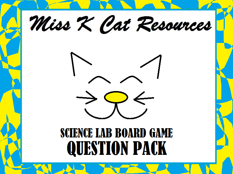 Chemistry Question Cards Bundle for Science Revision Board Game