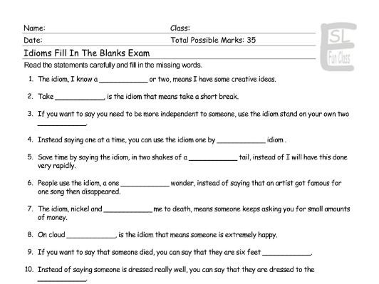 Word types - fill the blanks by lindsayjon | Teaching Resources