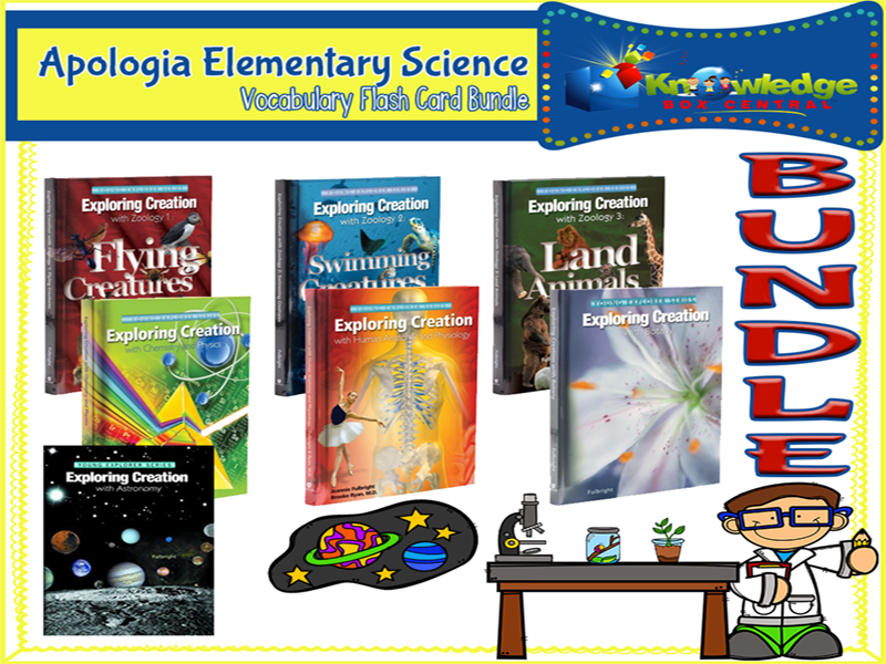 Apologia Elementary Science Vocabulary Flash Card BUNDLE