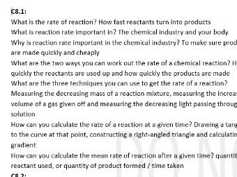 AQA Combined Science Trilogy Chemistry Paper 2 Complete Notes