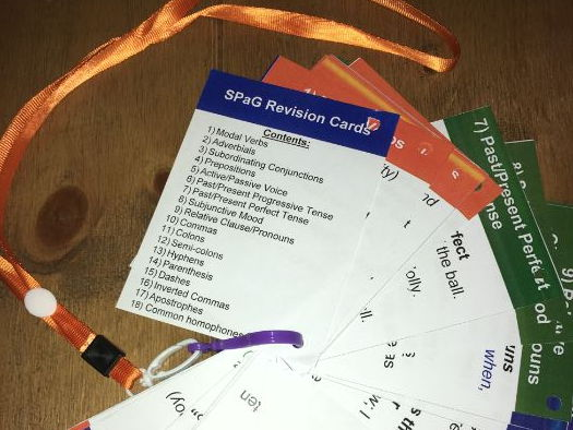 Writing Prompt Cards - SPaG Revision Cards for Lanyards UKS2