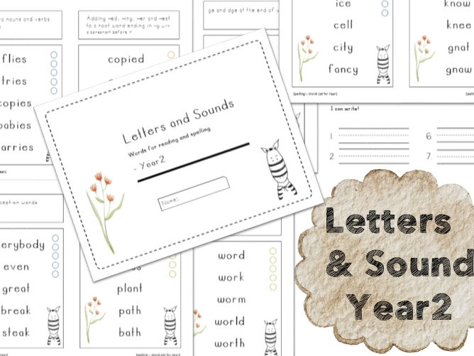 SPaG Spelling Test] Spelling Word List for Year2