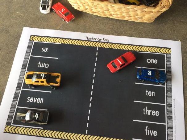 Number Car Park Mats