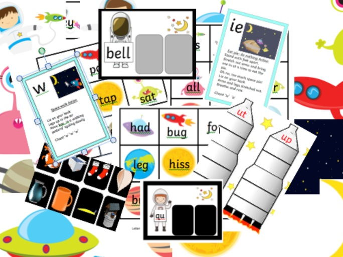 Space bundle phonics, rhyming, sorting, word family Reception Year 1 Phase 2 3 Letters and sounds