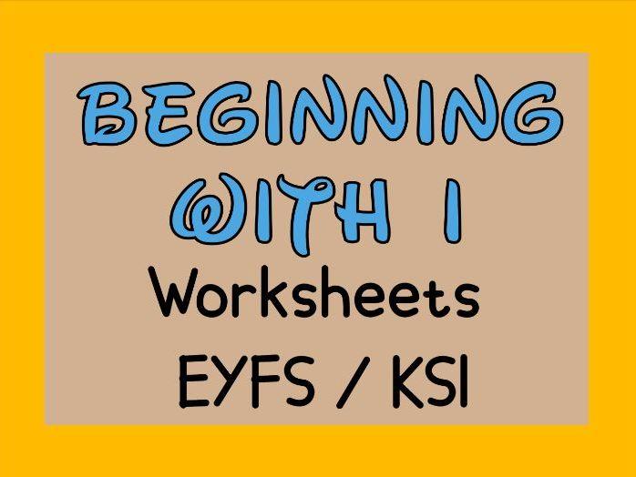 Beginning with I Worksheets EYFS / KS1