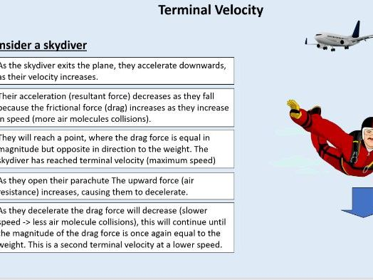 GCSE Physics (4.5.6.1.5) Forces - Constant Acceleration and terminal velocity (AQA)