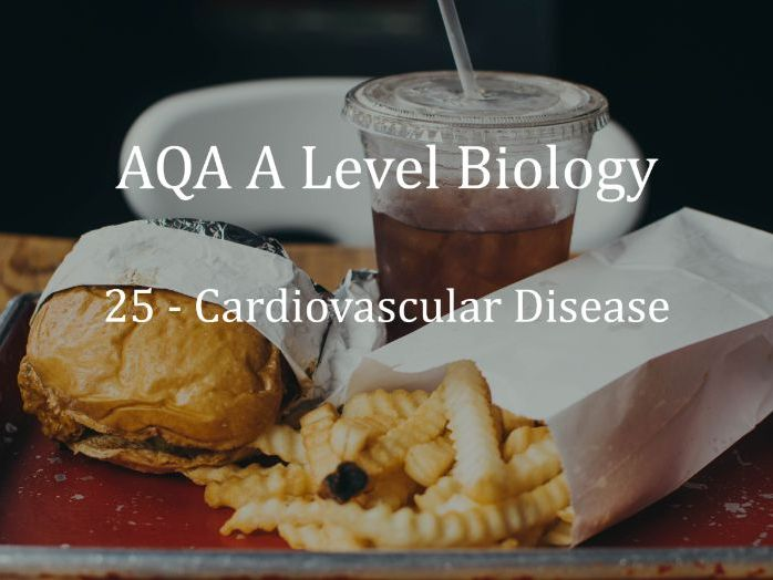 AQA A Level Biology Lecture 25 - Cardiovascular Disease