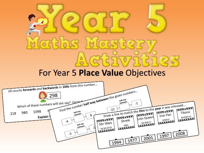Place Value Mastery Activities – Year 5