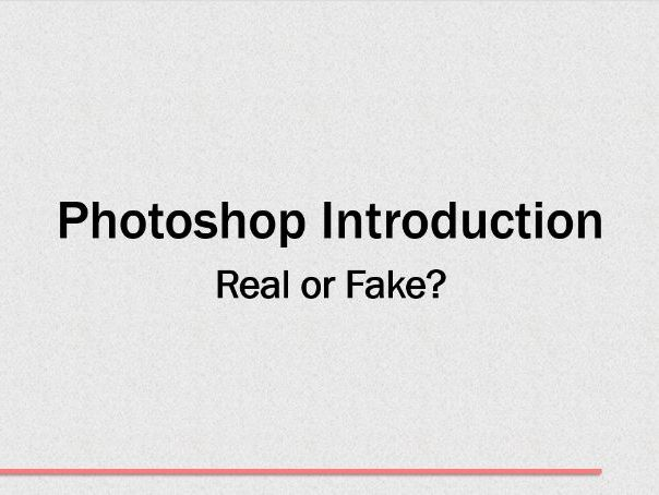 1) Introduction to Photoshop